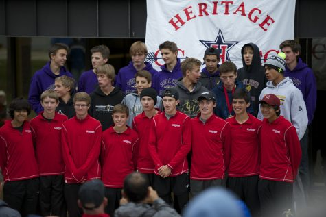 The boys varsity cross country wins 1st at Liberty Bell Cross Country Invitational in Littleton, CO.