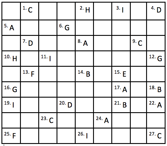 Vol. 42, Issue 2 Puzzle Answers