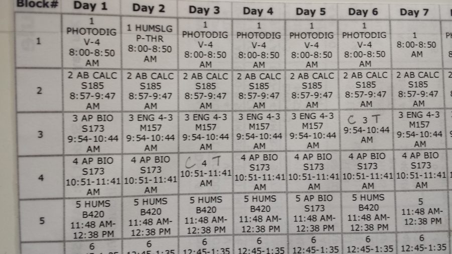 Schedule change proposed for grades 8-12 (correction)