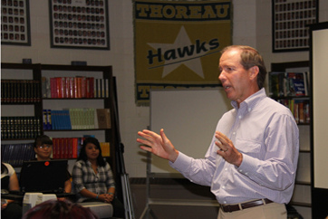 Students learn about policy at Student Leadership Institute with Senator Udall