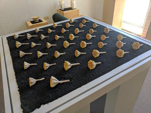 Elizabeth+Fritzche%2C+Iron+Lotus+Arrangement+%231+%28Unobstructed%29%0A++++Cast+iron%2C+casein%2C+black+sesame+seeds%0A