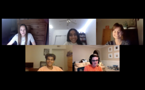 From the top left: Lorelei Logan '21, Siddhi Gardner '21, Isabelle Gurney '21, Max Chandler '22, Carter Elias '21