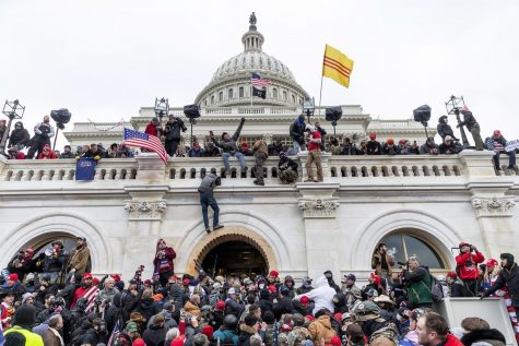 Insurrectionists storm the Capitol, Jan 6.