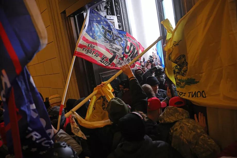Right-Wing+Protestors+Storm+The+Capitol