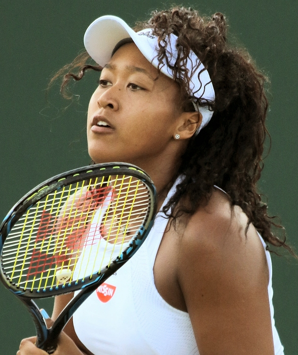 Naomi Osaka at Wimbeldon, 2017