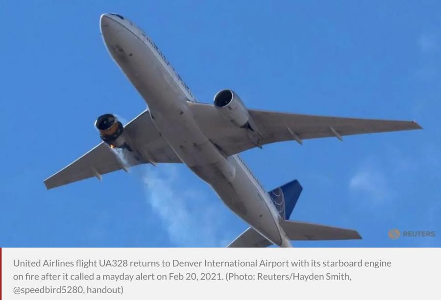 United Flight Shed Debris Over Denver