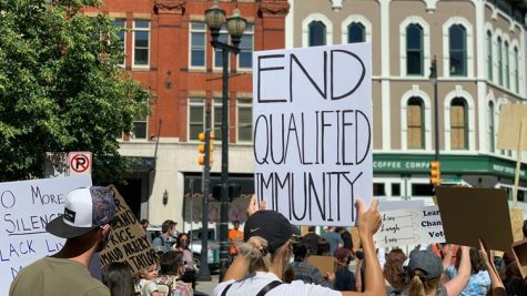 Protesters of Qualified Immunity in Michigan