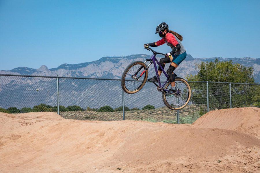 Daniellle Formosa catches air.