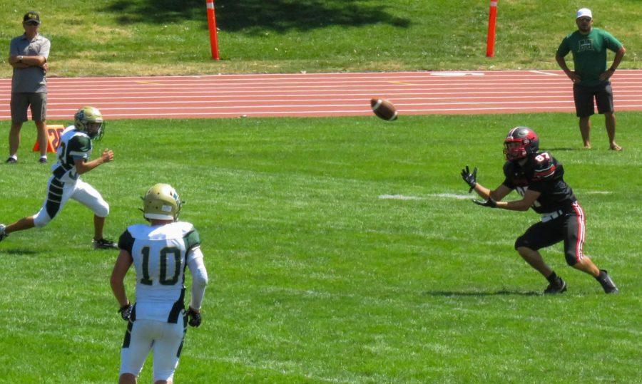 Senior Tyler Wilson catches the ball.