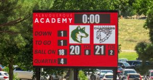 The scoreboard shows the score, but the story is one of hard work and dedication.