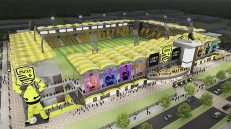 Artist conception of a possible new stadium for NM United.