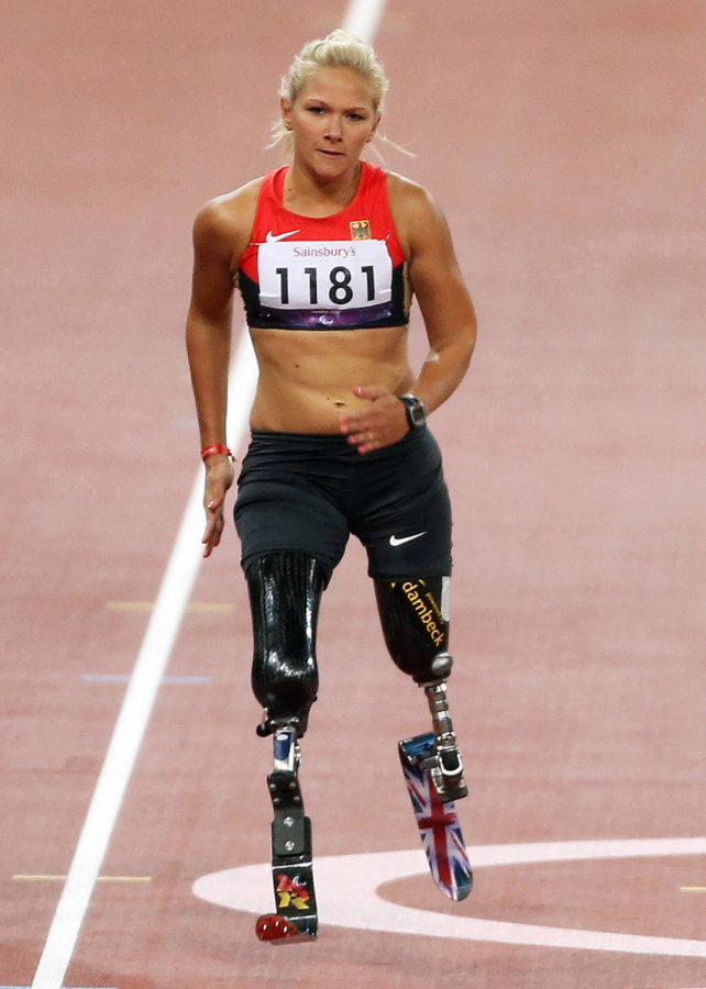 Vanessa Low compeeing the 100m dash in 2012