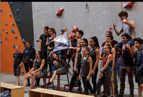 Team Mojo of Stone Age Climbing Gym Celebrates Divisional Championships
