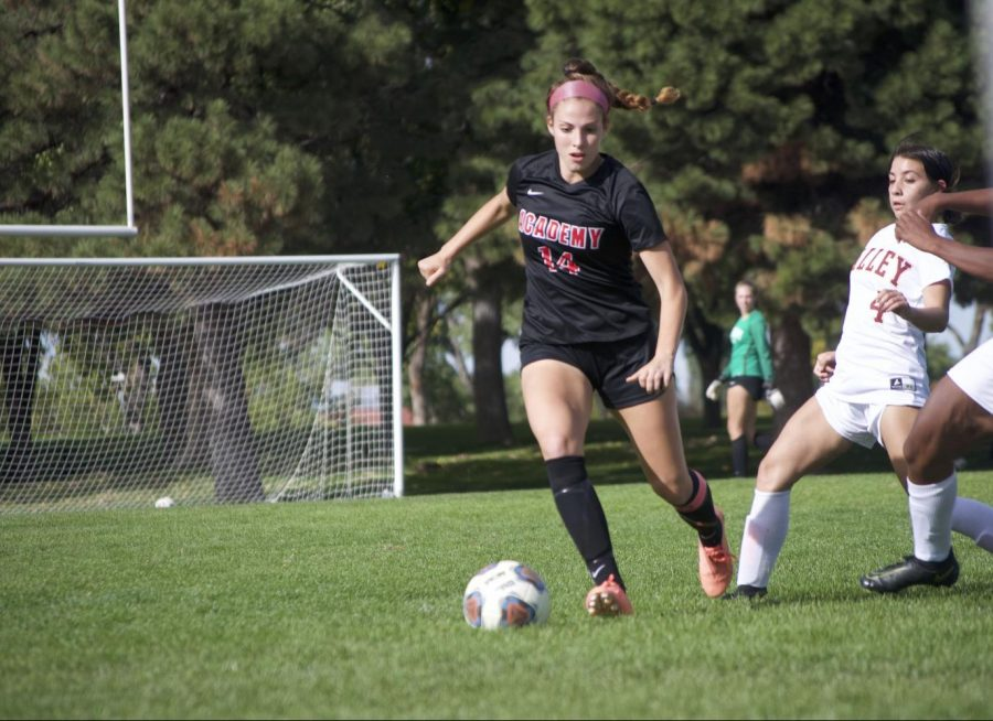 Juliette Knouse eyes the ball.